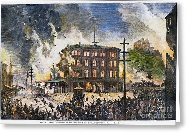 Union Pacific Greeting Cards - Great Railroad Strike, 1877 Greeting Card by Granger