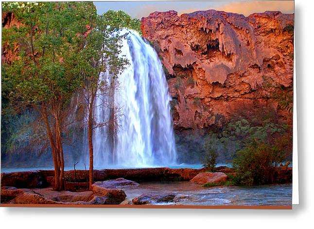 Alga Greeting Cards - Havasu Falls Greeting Card by Martin Massari