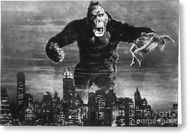 Fay Greeting Cards - King Kong, 1933 Greeting Card by Granger