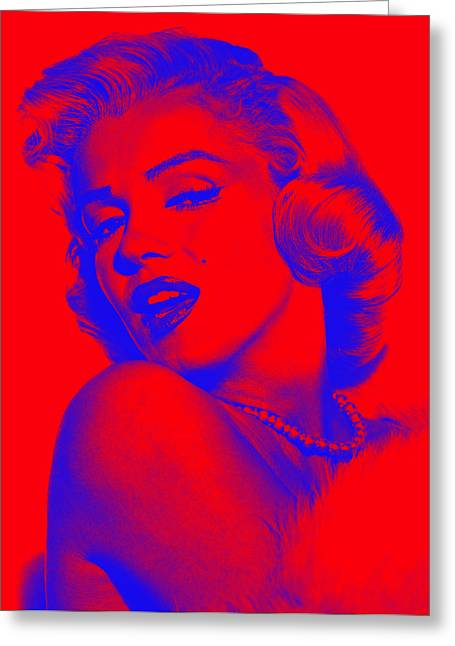 Marilyn Monroe Collection Greeting Card by Marvin Blaine