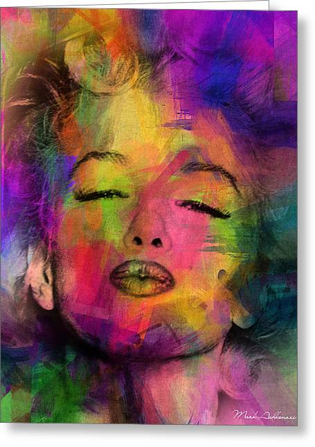 Lip Greeting Cards - Marilyn Monroe Greeting Card by Mark Ashkenazi
