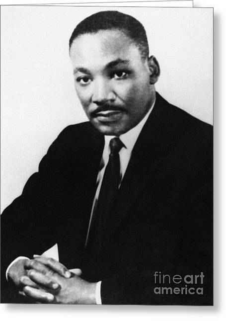 Nobel Prize Laureate Greeting Cards - MARTIN LUTHER KING, Jr Greeting Card by Granger