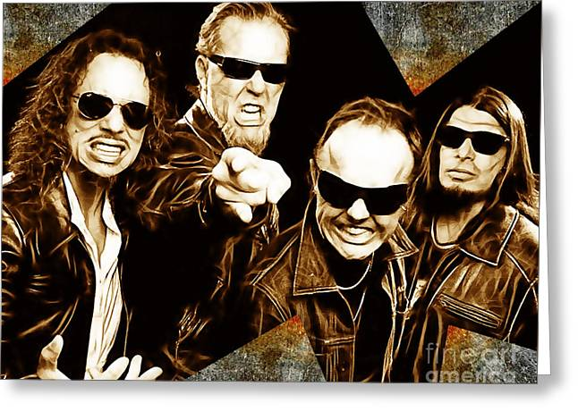 Metallica Greeting Cards - Metallica Collection Greeting Card by Marvin Blaine