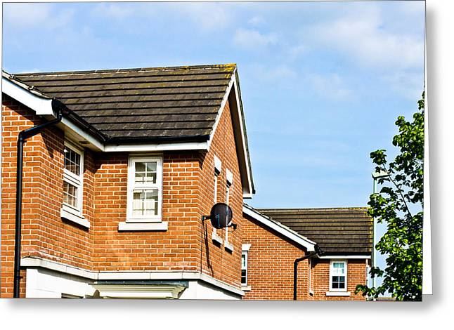 Modern Homes Greeting Card by Tom Gowanlock