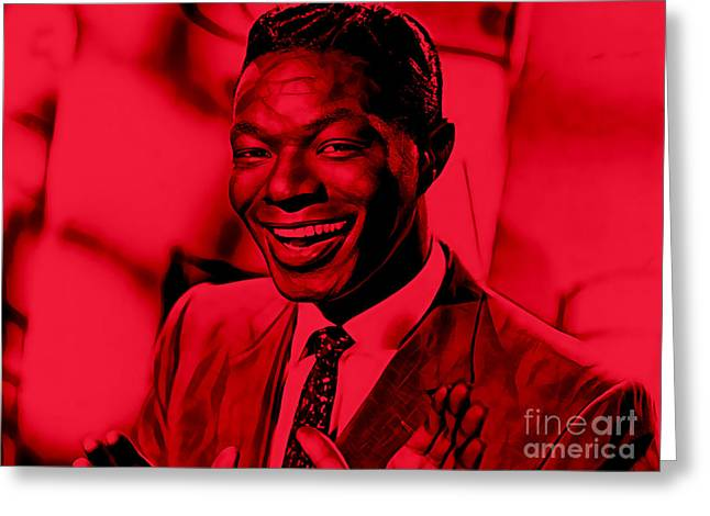 Nat King Cole Collection Greeting Card by Marvin Blaine