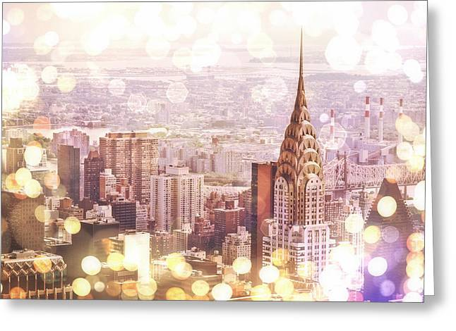 Bokeh Greeting Cards - New York City Greeting Card by Vivienne Gucwa