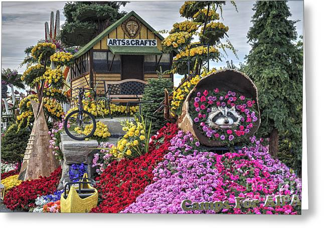 Parade, Floats, Pasadena Ca Greeting Card by David Zanzinger