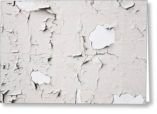 Off-white Greeting Cards - Peeling paint Greeting Card by Tom Gowanlock