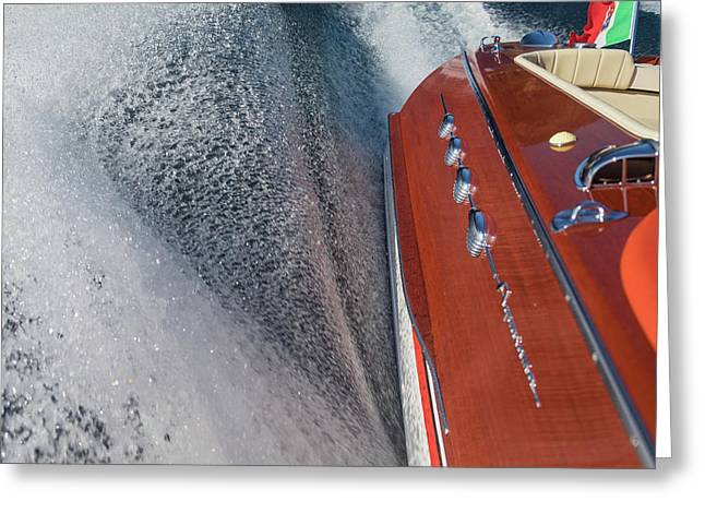 Portofino Italy Greeting Cards - Riva Aquarama Greeting Card by Steven Lapkin