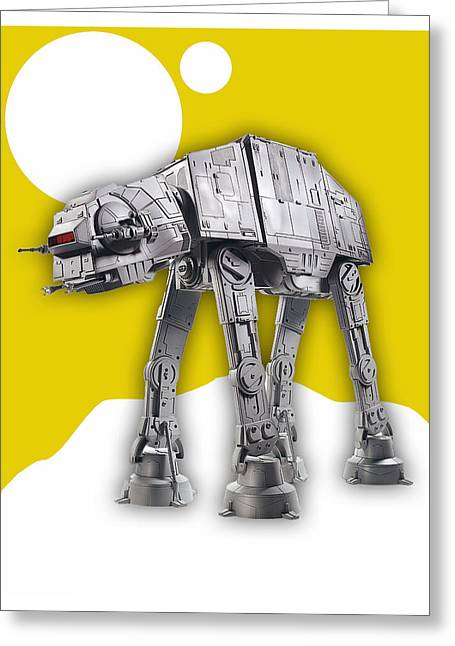 Star Wars At-at Collection Greeting Card by Marvin Blaine