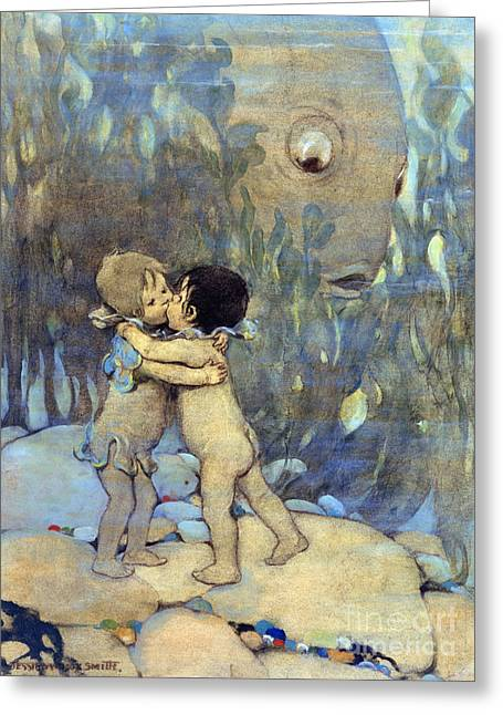 Tom Boy Paintings Greeting Cards - The Water Babies Greeting Card by Granger