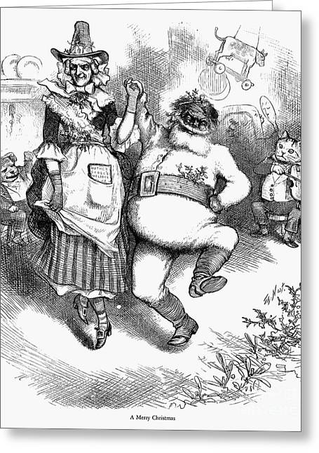 Mother Goose Greeting Cards - Thomas Nast: Christmas Greeting Card by Granger
