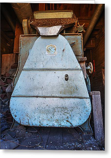 Metal Art Greeting Cards - Vintage Grain Elevator Greeting Card by Donald  Erickson