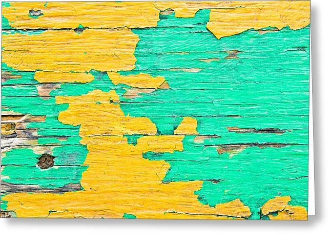 Dilapidated Greeting Cards - Weathered wood Greeting Card by Tom Gowanlock