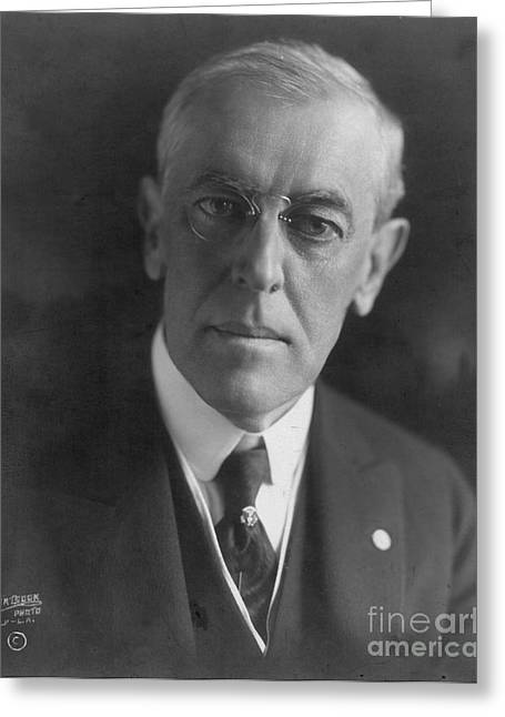 Woodrow Greeting Cards - Woodrow Wilson (1856-1924) Greeting Card by Granger