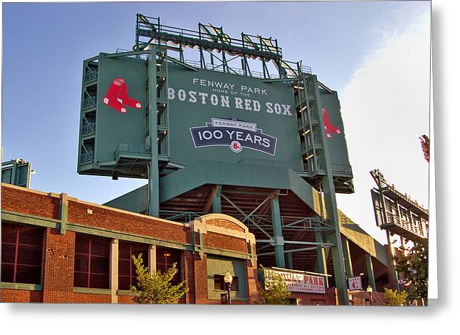 100 Years at Fenway Greeting Card by Joann Vitali