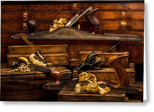 """""""still Life Photographs"""" Greeting Cards - 100 Years Of Hand Planes Greeting Card by Paul Freidlund"""