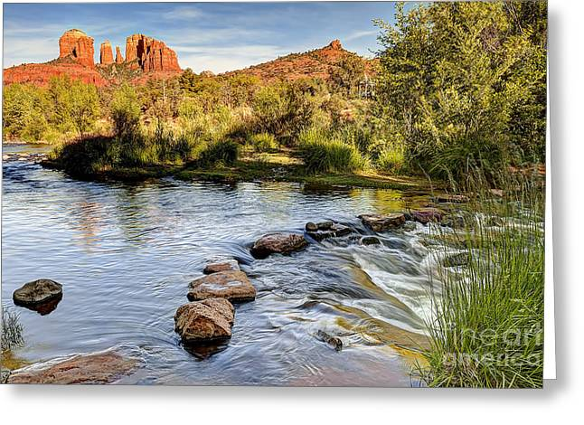 Red Rock Crossing Greeting Cards - 1001 Sedona Arizona Greeting Card by Steve Sturgill
