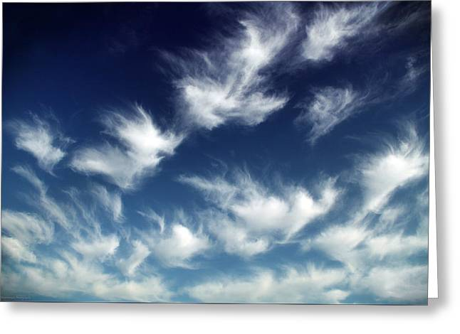 Himmel Greeting Cards - 1001 Sheeps In The Sky Greeting Card by Philippe Meisburger