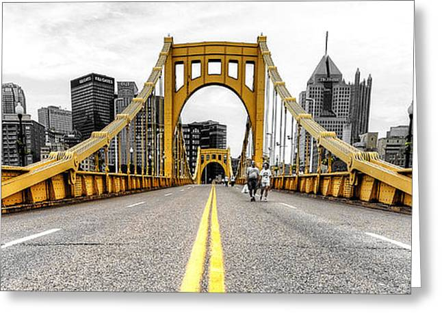 Roberto Greeting Cards - 1007 Pittsburgh PA Greeting Card by Steve Sturgill