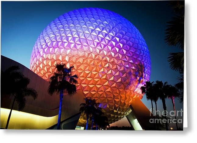 Amusements Greeting Cards - 1009 Epcot Greeting Card by Steve Sturgill