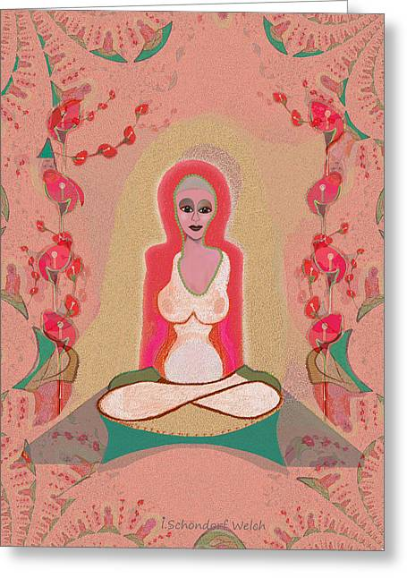 Ego Greeting Cards - 1024 - Meditation  ... Greeting Card by Irmgard Schoendorf Welch