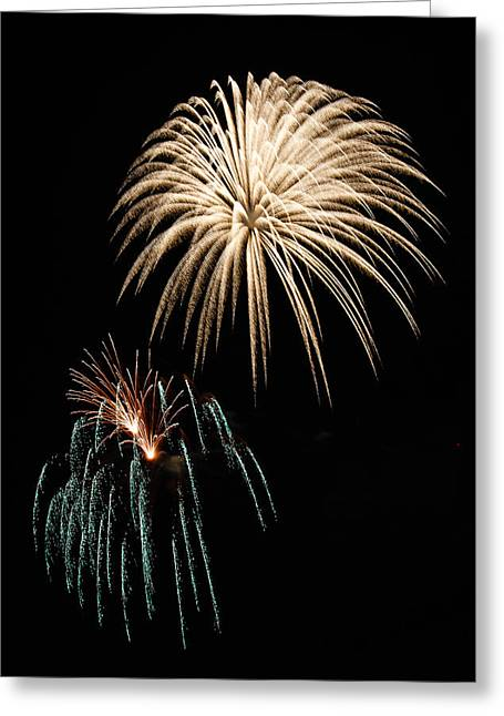 4th July Photographs Greeting Cards - Fireworks Greeting Card by Buddy Woods