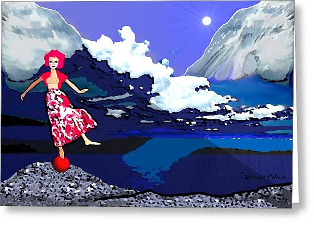 Dance Of Life Greeting Cards - 1089 - Dance of Life ... Greeting Card by Irmgard Schoendorf Welch