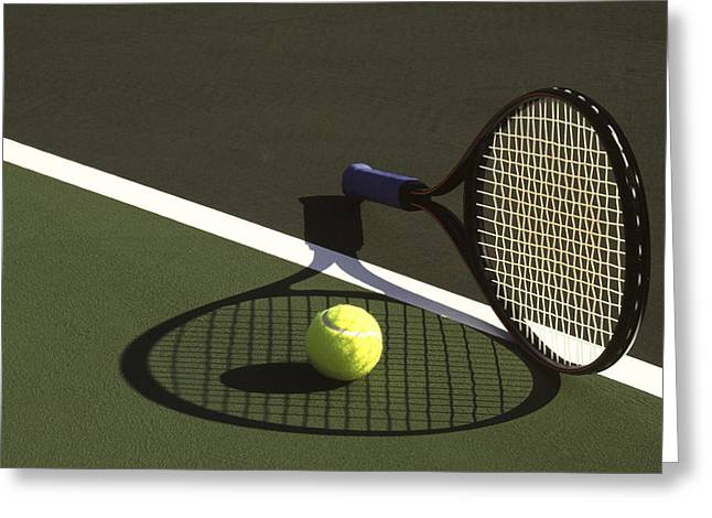 Racquet Photographs Greeting Cards - 10sne1 Greeting Card by Gerard Fritz