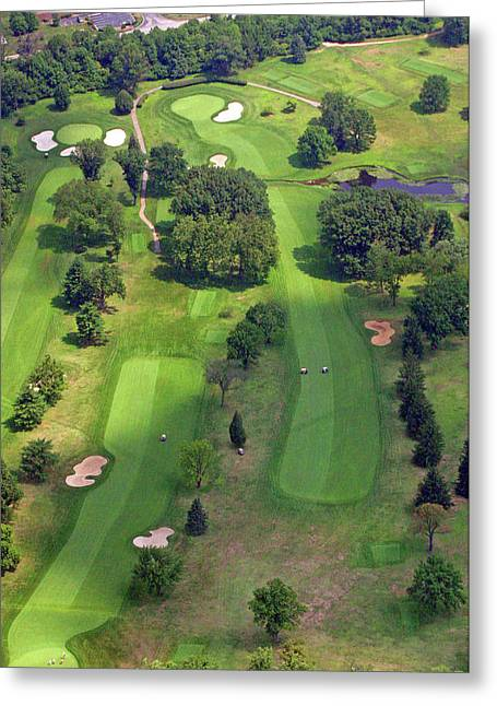 Plymouth Meeting Aerials Greeting Cards - 10th Hole 2 Sunnybrook Golf Club 398 Stenton Avenue Plymouth Meeting PA 19462 1243 Greeting Card by Duncan Pearson