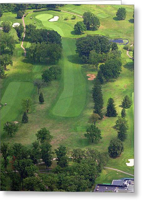 Plymouth Meeting Aerials Greeting Cards - 10th Hole Sunnybrook Golf Club 398 Stenton Avenue Plymouth Meeting PA 19462 1243 Greeting Card by Duncan Pearson