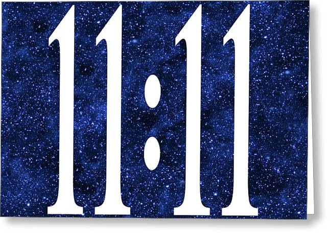 Angels Numbers Greeting Cards - 11 11 Greeting Card by Ginny Gaura