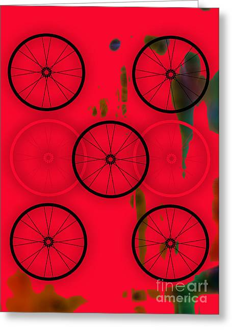Bicycle Wheel Collection Greeting Card by Marvin Blaine