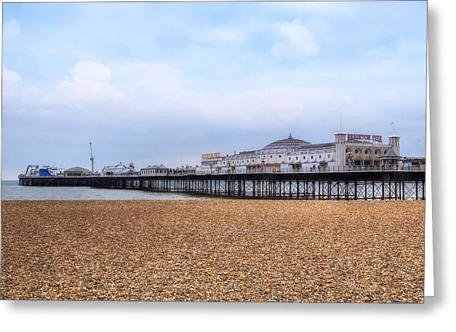 Brighton Pier Greeting Card by Joana Kruse