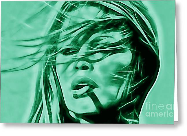 Pop Mixed Media Greeting Cards - Brigitte Bardot Collection Greeting Card by Marvin Blaine