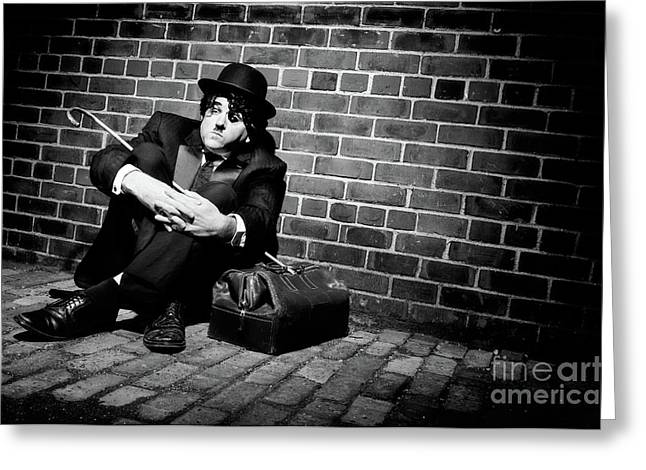 Bankrupt Greeting Cards - Charlie Chaplin Greeting Card by Oleksiy Maksymenko