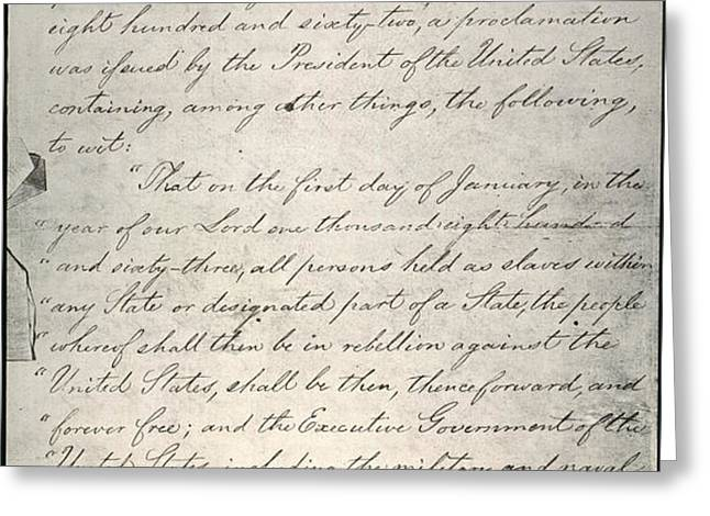 EMANCIPATION PROCLAMATION Greeting Card by Granger