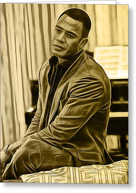 Empire's Trai Byers Andre Lyon Greeting Card by Marvin Blaine