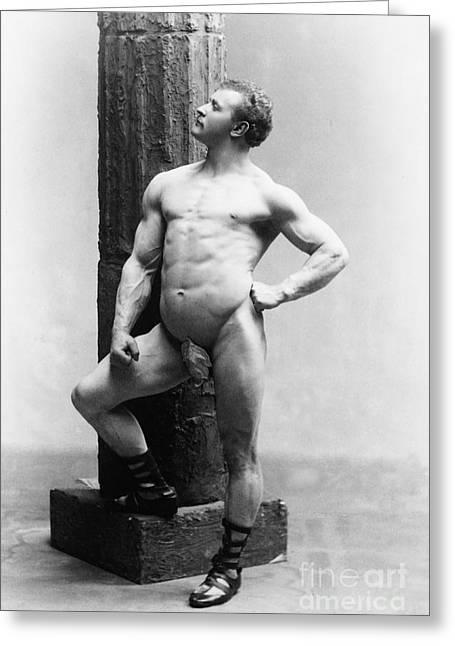 Racy Greeting Cards - Eugen Sandow, Father Of Modern Greeting Card by Science Source