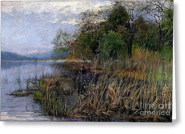 Charlotte Greeting Cards - Landscape Greeting Card by Celestial Images