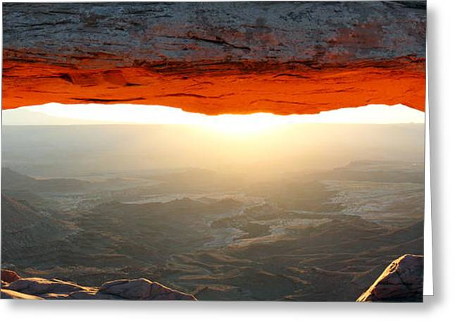 Healthy Greeting Cards - Mesa arch sunrise in Canyonlands National park Greeting Card by Pierre Leclerc Photography