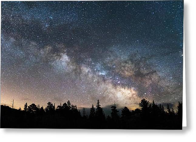 Night Photography Greeting Cards - 11 Mile Milky Way Greeting Card by Darren  White