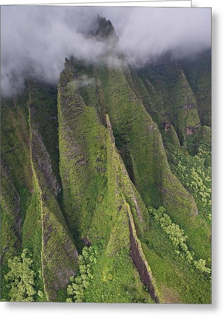 Waimea Falls Greeting Cards - Na Pali Coast Kauai Greeting Card by Steven Lapkin