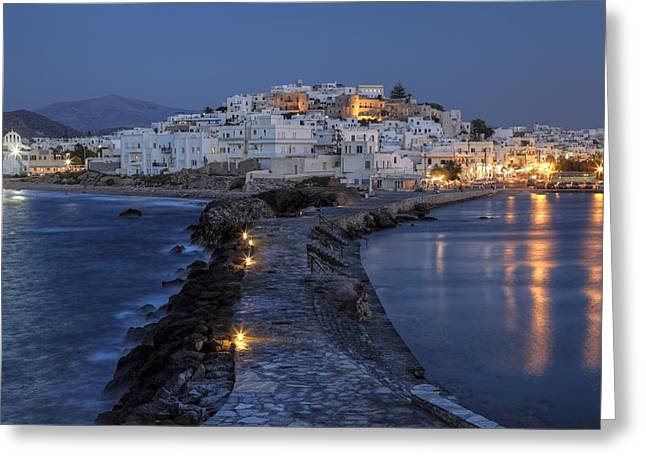 Aegean Sea Greeting Cards - Naxos - Cyclades - Greece Greeting Card by Joana Kruse