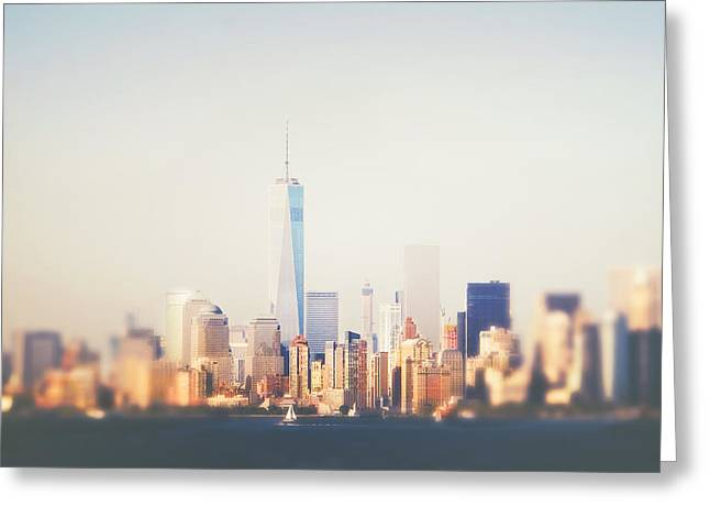 Wtc Center Greeting Cards - New York City Greeting Card by Vivienne Gucwa