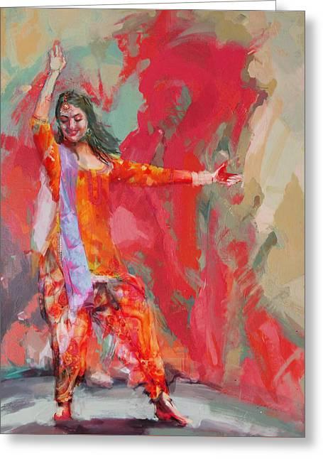 East Asian Culture Greeting Cards - 11 pakistan folk Punjab B Greeting Card by Maryam Mughal