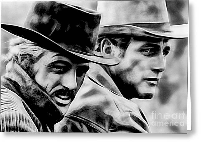 Paul Greeting Cards - Paul Newman Collection Greeting Card by Marvin Blaine