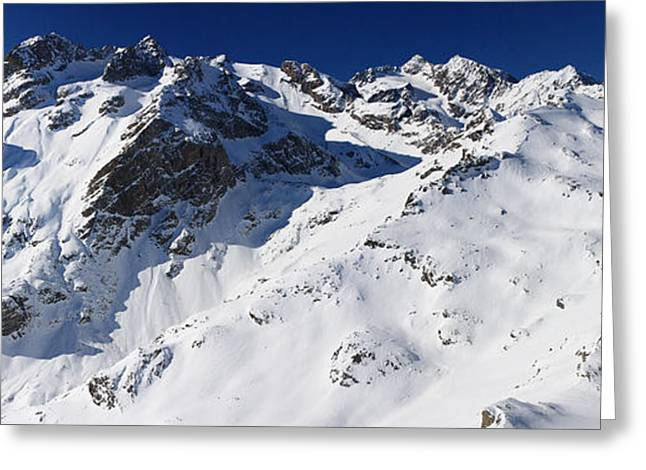 Chevalier Greeting Cards - Serre Chevalier in the French Alps Greeting Card by Pierre Leclerc Photography