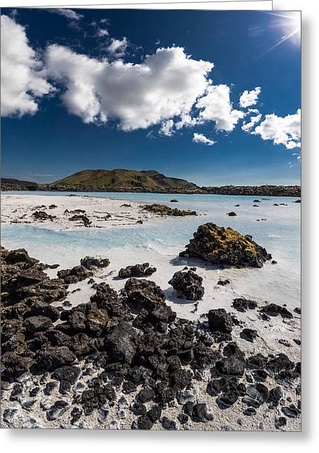 Silica Greeting Cards - Silica Deposits In Water By The Greeting Card by Panoramic Images