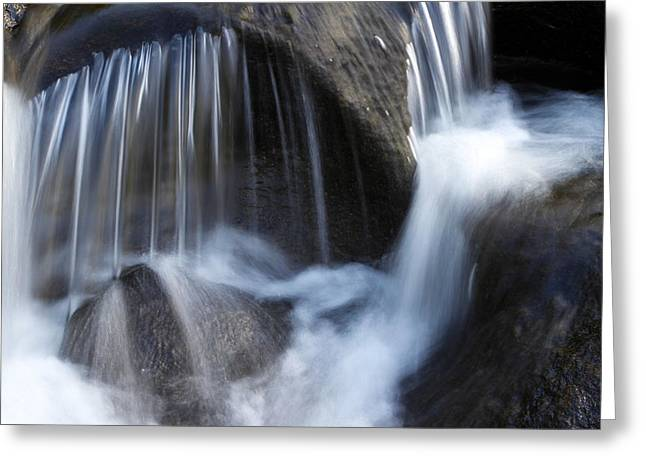 Beautiful Scenery Greeting Cards - Water flowing Greeting Card by Les Cunliffe